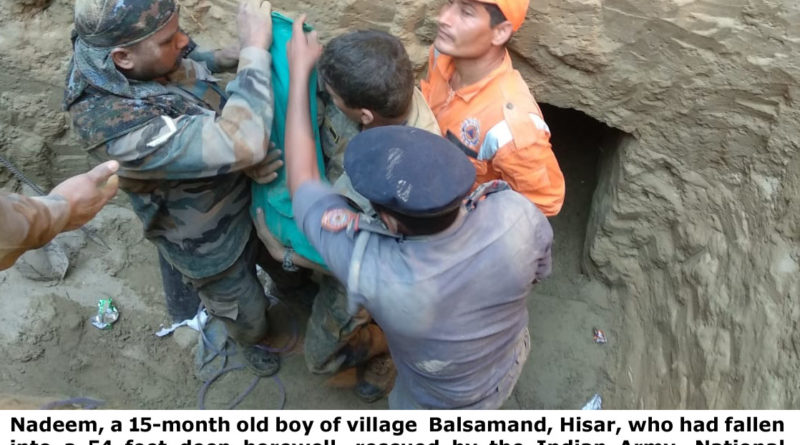 CHILD Rescued  Alive  From A Borewell