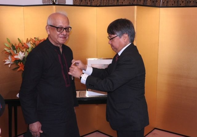 "Japan confers"" The Order of Rising Sun ""on Pabitra Sarkar, eminent Bengali multi-faceted personality"