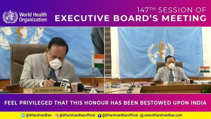 DR HARSH VARDHAN takes charge as head of W.H.O's Executive Board
